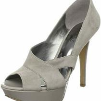 Guess Atense Light Natural Gray Open-Toe Platform Pump Heels 8.5m Photo