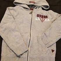 Guess Authentic Hoodie Sweater With Zipper Gray Guess Logo Girls Size 4t Photo