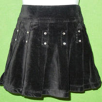 Guess Baby Girl  Size 2 T Black Cotton Velvet Pleated Skirt Lining Photo