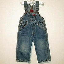 Guess Baby Size 18 Month Blues Jean Cotton Vintage Overalls Photo