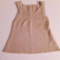 Guess Baby/toddler Girl Size 12 Mths Sparkly Gold Sweater Sleeveless Top Photo