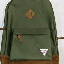 Guess Backpack Olive Green New With Tags School Bag (Like Vintage Jansport) Photo