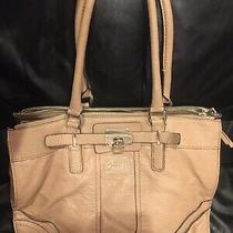 Guess Beautiful Functional Large Expandable Tote in Nude/light Tan Soft Leather Photo