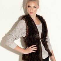 Guess Beca Brown Multi Faux Fur Vest M Marciano Jacket Shoes Jeans Top Photo