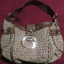 Guess Beige and Brown Purse Photo