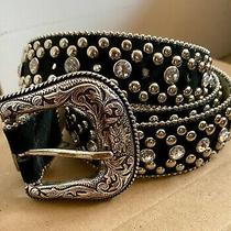 Guess Belt Midnight Blue/black With Bling Size Lg  Photo