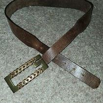 Guess Belt Woman Leather Brown Vintage Size S Photo