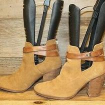 Guess Bethel 2 Women Brown Leather Zip Up Stacked Heel Ankle Booties Boot Sz 7 M Photo