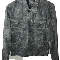 Guess Black and Silver Denim Camo/army Fatigue Jacket Rare Size 2xl Photo