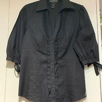Guess Black Blouse Size L Photo