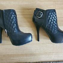 Guess Black Booties Size 8.5 Photo