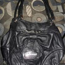 Guess Black Bow Handbag Purse Photo