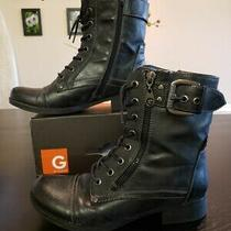 Guess Black Brryan Boots (Women's Size 6.5) Pre-Owned Photo