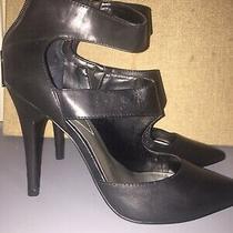 Guess Black Cut-Out Pointy Toe Stiletto Pumps. Sz 10 Photo