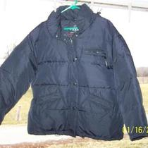 Guess Black Down Puffer Coat Jacket Mens Size M  Euc Photo