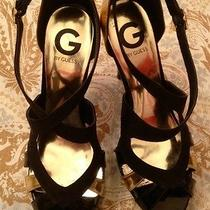 Guess Black & Gold Heels Photo