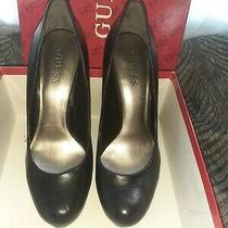 Guess Black High Heel Pumps Size 7.5 Photo