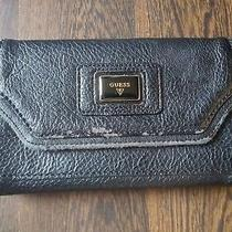 Guess Black Leather Wallet Clutch Photo