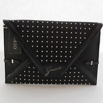 Guess Black Multi Fashion Clutch Rumi Envelope Brand New Photo