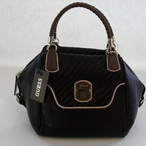 Guess Black Multi Fashion Makala Satchel Brand New Photo