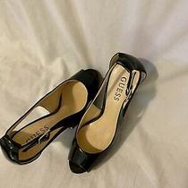 Guess Black Patent Leather Heels(size 7) Photo