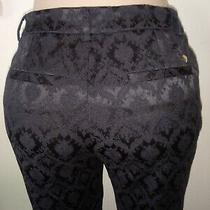 Guess Black  Print Pants Womens Size 8 Photo