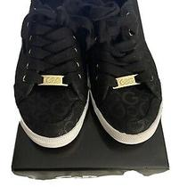 Guess Black Quilted Woven Tennis Shoes Sneakers Women's Size 5  G by Guess Photo