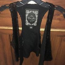 Guess Black Sequin Vest Sz Xs Photo