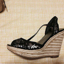 Guess Black Sequin Wedges Photo