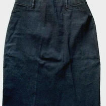 Guess Black Skirt 31 Marciano Straight Pencil Jean Dress 7/8 Top  Photo