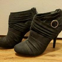 Guess Black Suede Booties High Heel Shoes Size 8.5 8 1/2 Photo