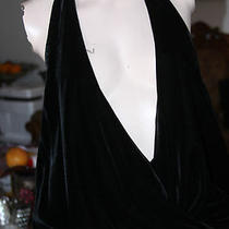 Guess Black Velvet Color Bodysuit Size M Photo
