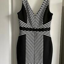 Guess Black & White Stripe Bodycon Dress 6 Photo