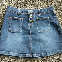 Guess Blue Denim Jeans Mini Skirt Size 24 Photo
