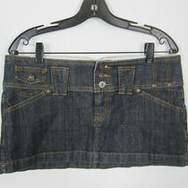 Guess Blue Five Pocket Three Button/zip Closure Micro Mini Denim Skirt 31 M 8/10 Photo