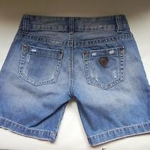 Guessblue Jean Denim Bermuda Shorts Size 27 Photo