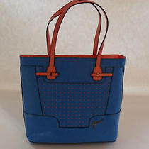 Guess Blue Multi Fashion Rumi Medium Carryall Brand New Photo