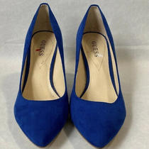 Guess Blue Suede Pumps Size 10 Photo