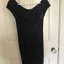 Guess Bodycon Black Dress Sz 2 Nwot Photo