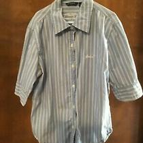 Guess Boys Striped Button Up Dress Shirt (Size s) Photo