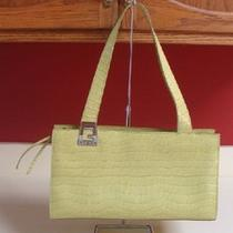 Guess Bright Green Moc Croc Medium Size Handbag Euc Photo