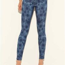 Guess Brittney Rosita Floral Print- Blue Sunset Wash Jeans Sz 26 Photo