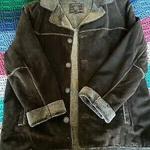 Guess Brown 90s Suede Patchwork Jacket Faux Shearling Lining  Xl Photo