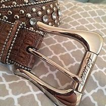Guess Brown Bedazzled Belt  Photo