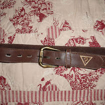 Guess Brown Leather Belt - Size S - Beautiful Photo