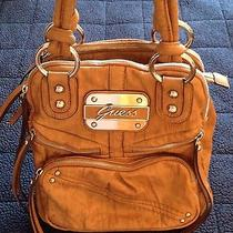 Guess Brown Leather Handbag Photo