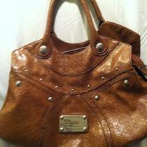 Guess Brown Leather Tote Photo