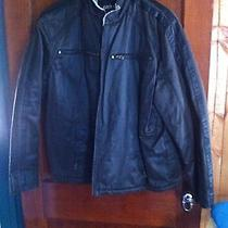 Guess Brown Motorcycle Jacket Xxl Photo