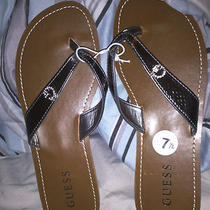 Guess Brown Sandal Flip Flops Women Size 7.5 Without Box Photo