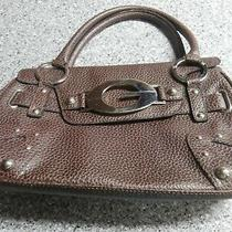 Guess Brown Vinyl Purse Tote Photo